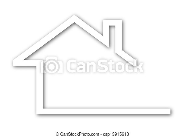 house with a gable roof - csp13915613