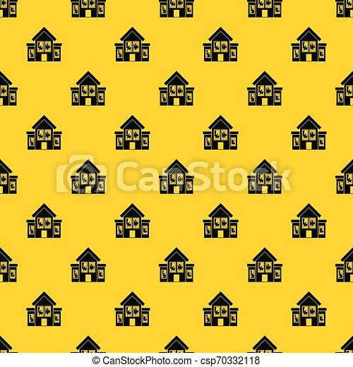 House with broken windows pattern vector - csp70332118