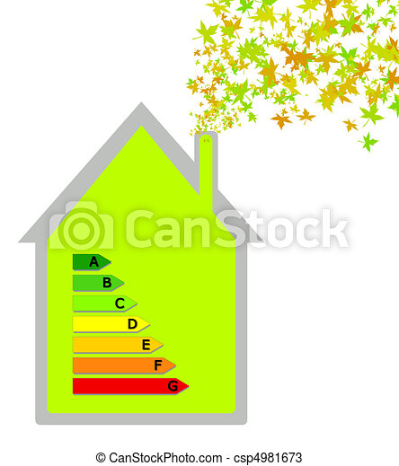 House with energy classification - csp4981673