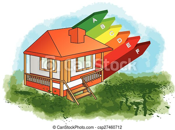 house with energy efficiency rating - csp27460712