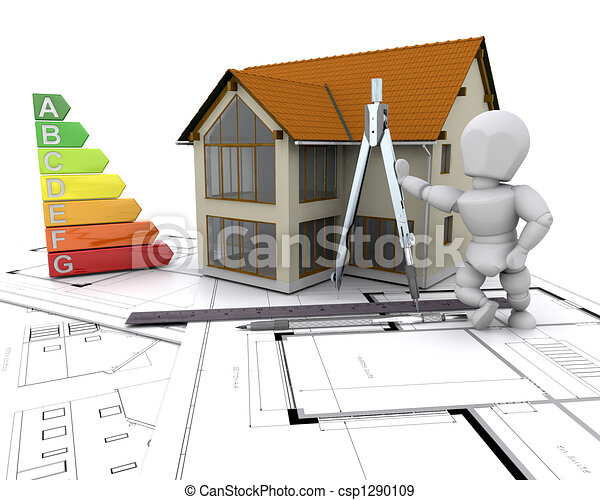 House with energy rating - csp1290109