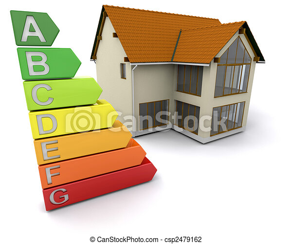 House with energy ratings - csp2479162