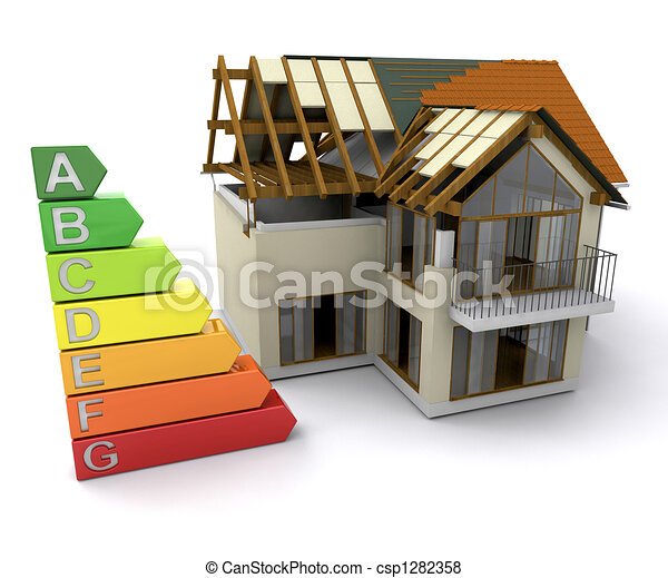 House with energy ratings - csp1282358