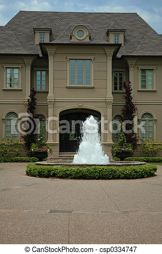 House with Fountain - csp0334747