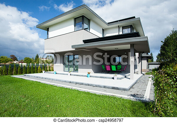 House with porch - csp24958797