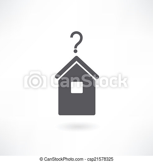 House with question mark - csp21578325