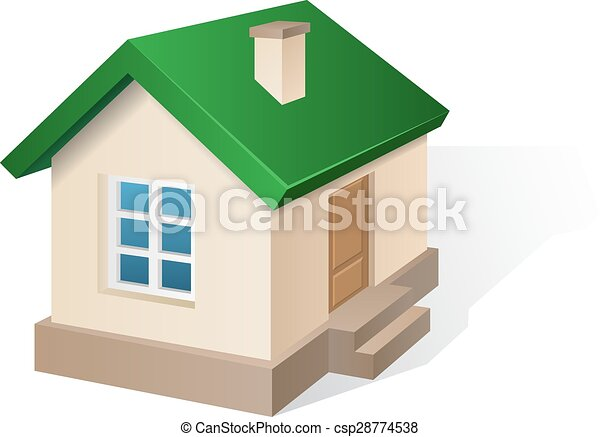 house with red roof residential house beige with a green roof with