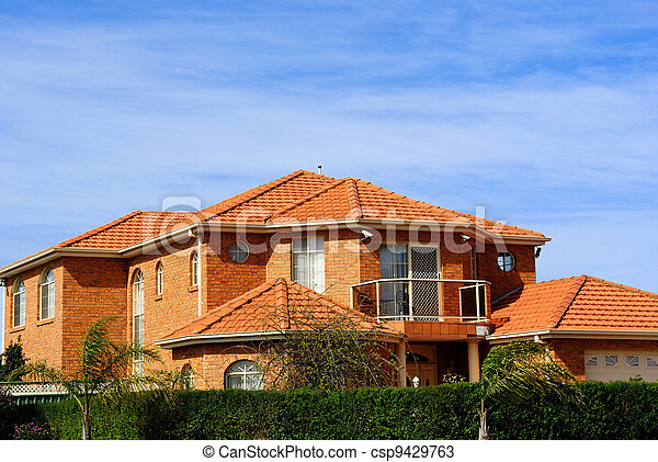 House With Terracotta Roof Tiles   Csp9429763