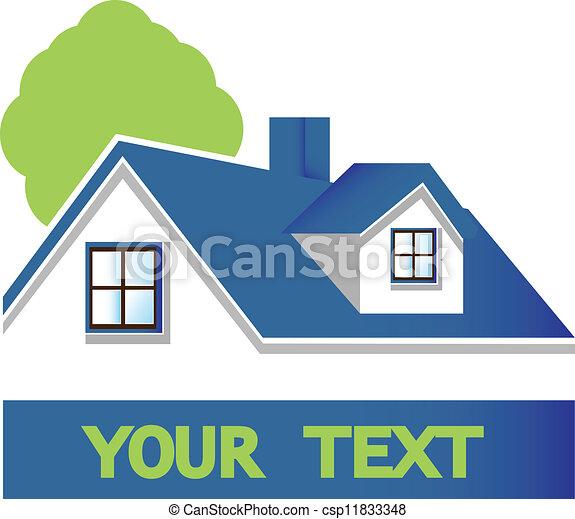 House with tree logo - csp11833348