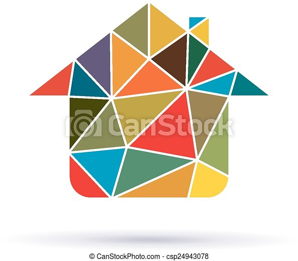 House with triangles icon - csp24943078