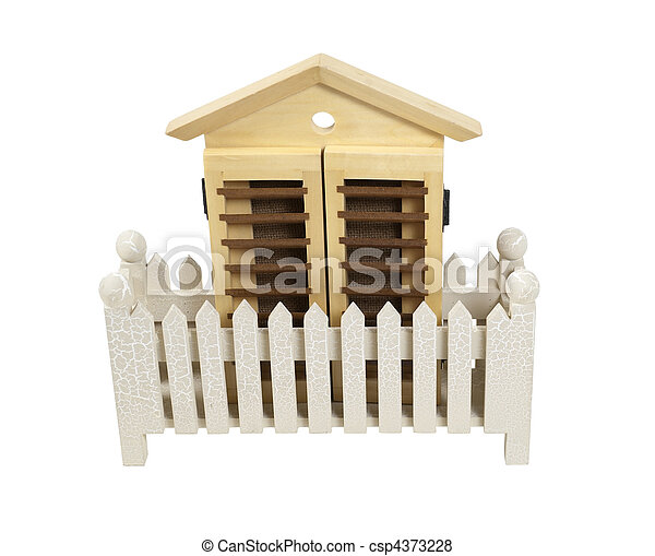 House with White Picket Fence - csp4373228
