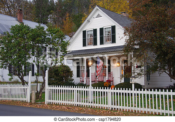 House with white picket fence - csp1794820