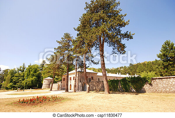 Casa de piedra medieval (Cetinje, Montenegro) - csp11830477