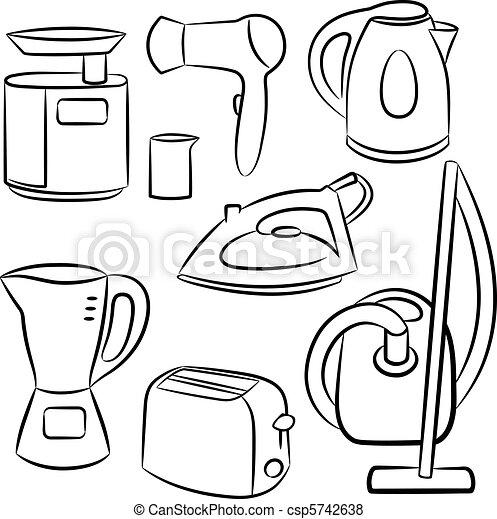 Household appliances.  - csp5742638