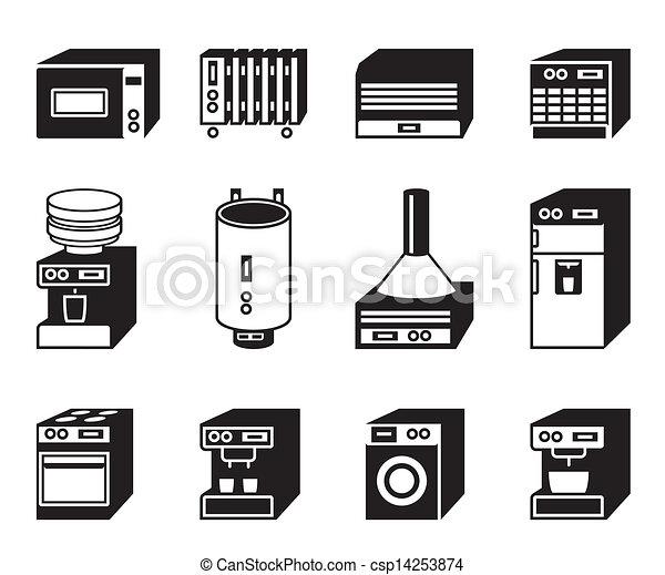 Household appliances icon set - csp14253874