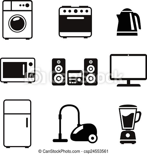 Household Appliances Icons - csp24553561