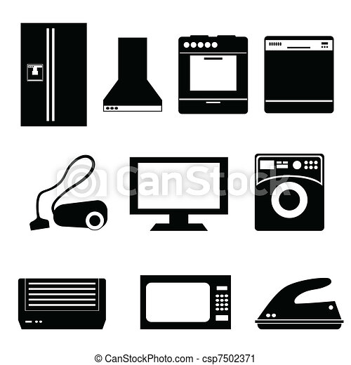 Household appliances - csp7502371