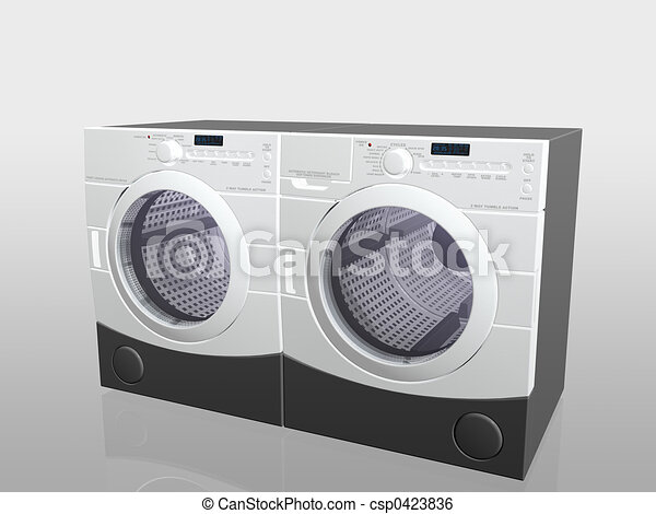 Household appliances, washer and drier. - csp0423836