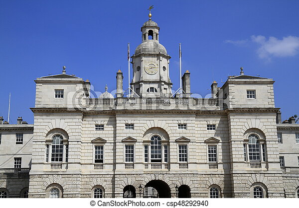Household Cavalry Museum Building in London - csp48292940