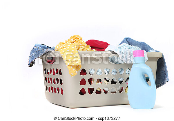 Household Chore of Laundry Waiting to Be Done - csp1873277