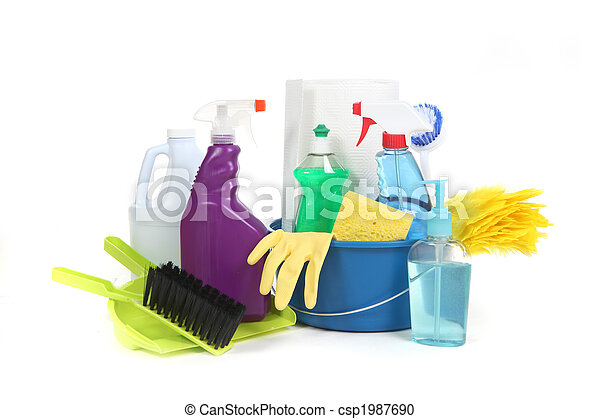 Household Items Used for Chores and Cleaning - csp1987690