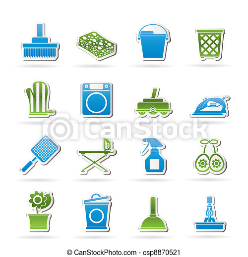 Household objects and tools icons  - csp8870521