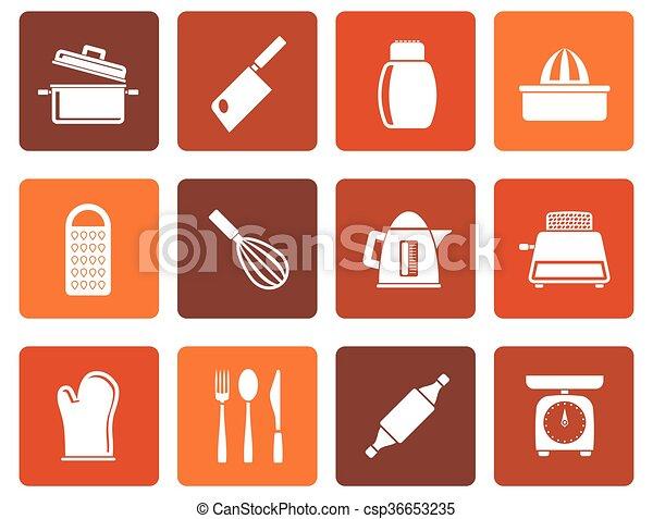 household Utensil Icons - csp36653235