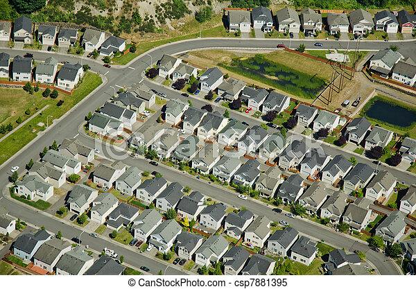 Houses along suburban roads - csp7881395