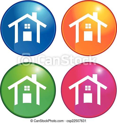 Houses icons logo - csp22507631