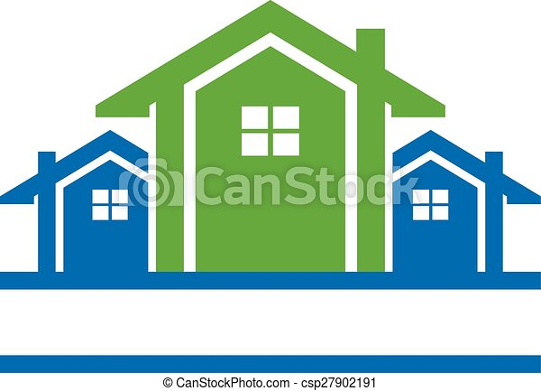 Houses in line logo - csp27902191