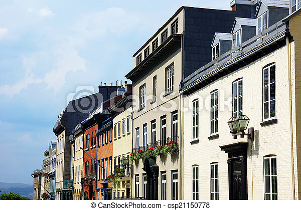 Houses in old Quebec city - csp21150778