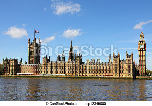 Houses of Parliament and Big Ben in Westminster, London.  - csp12345000