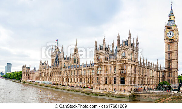 Houses of Parliament in London, England - csp17681269