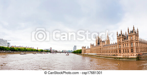 Houses of Parliament in London, England - csp17681301