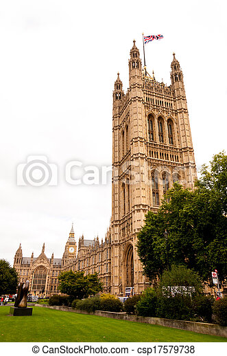 Houses of Parliament in London, England - csp17579738