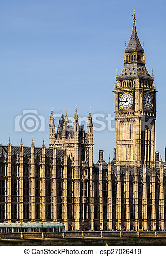 Houses of Parliament in London - csp27026419