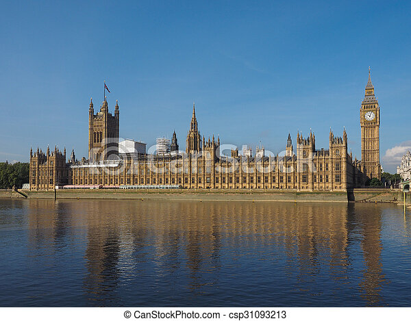 Houses of Parliament in London - csp31093213