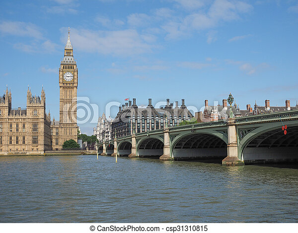 Houses of Parliament in London - csp31310815