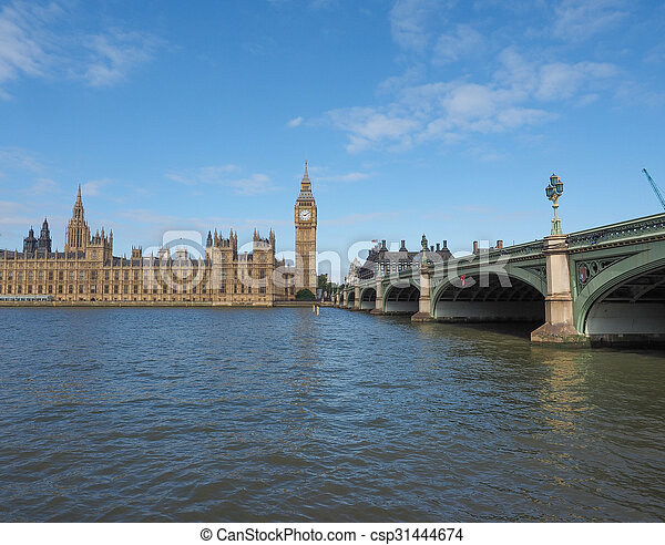 Houses of Parliament in London - csp31444674