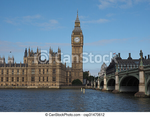 Houses of Parliament in London - csp31470612