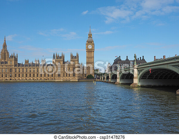 Houses of Parliament in London - csp31478276