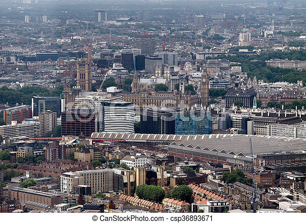 Houses of Parliament in London - csp36893671