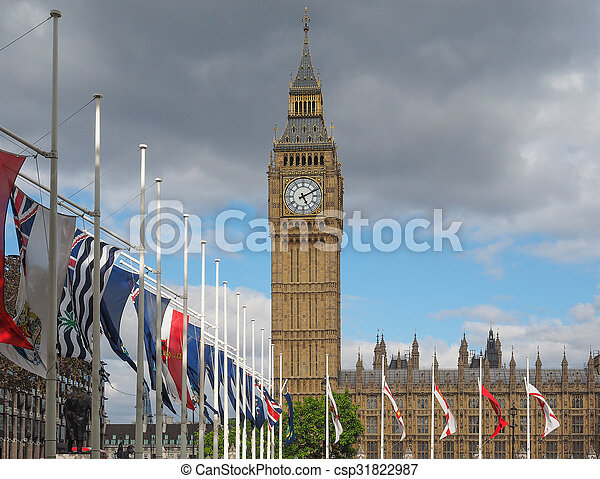 Houses of Parliament in London - csp31822987