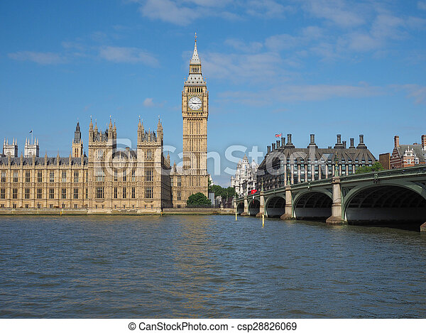 Houses of Parliament in London - csp28826069