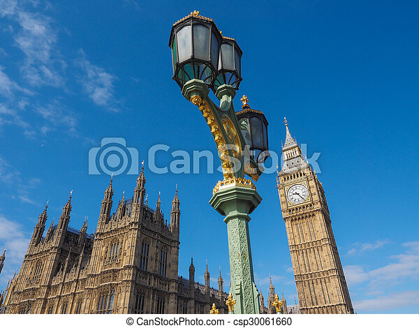 Houses of Parliament in London - csp30061660