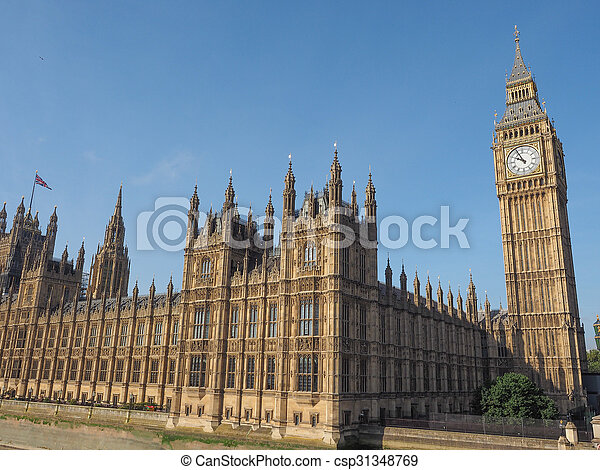 Houses of Parliament in London - csp31348769
