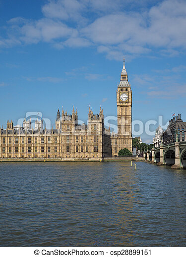 Houses of Parliament in London - csp28899151