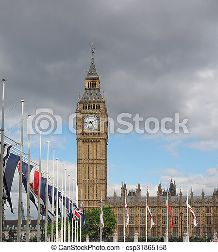 Houses of Parliament in London - csp31865158