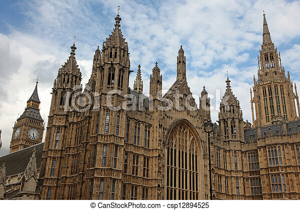 Houses of Parliament in London - csp12894525