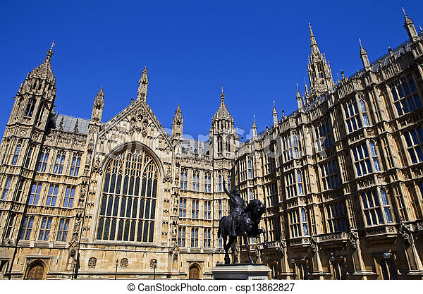 Houses of Parliament in London - csp13862827